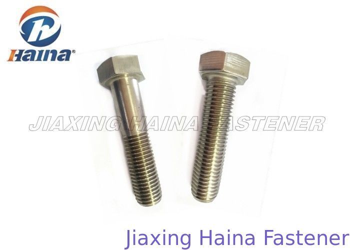 "A2 70 Stainless Steel Hex Head Bolts For Connection ANSI / ASTM M4-M30 1/4""-2"""