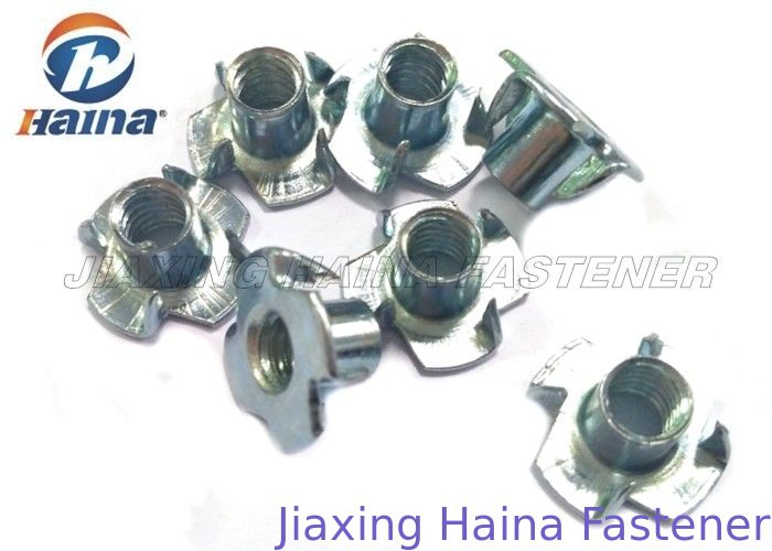 Plain Finish Zinc Plated Tee Stainless Steel Nuts Four Claws