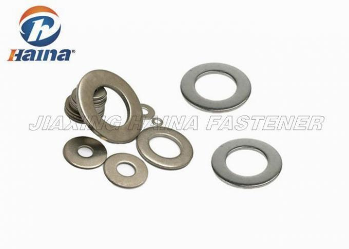 Metric Flat Washers SS304 / SS316 Plain Round Head M3 M4 M5 M6 M8 For Machines