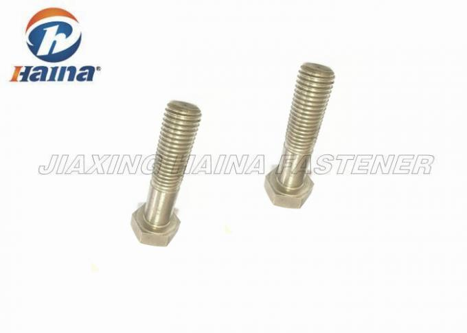 DIN 931 Stainless Steel Bolts Half Thread Hex Head For Structural Steel M10 M16